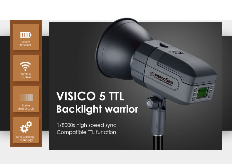 Best Selling Photography Equipment Portable Lighting Rechargeable Studio Wireless Battery Strobe Flash