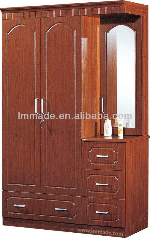 Wooden Three Doors Mirror Door Cheap Wardrobe Closet Buy