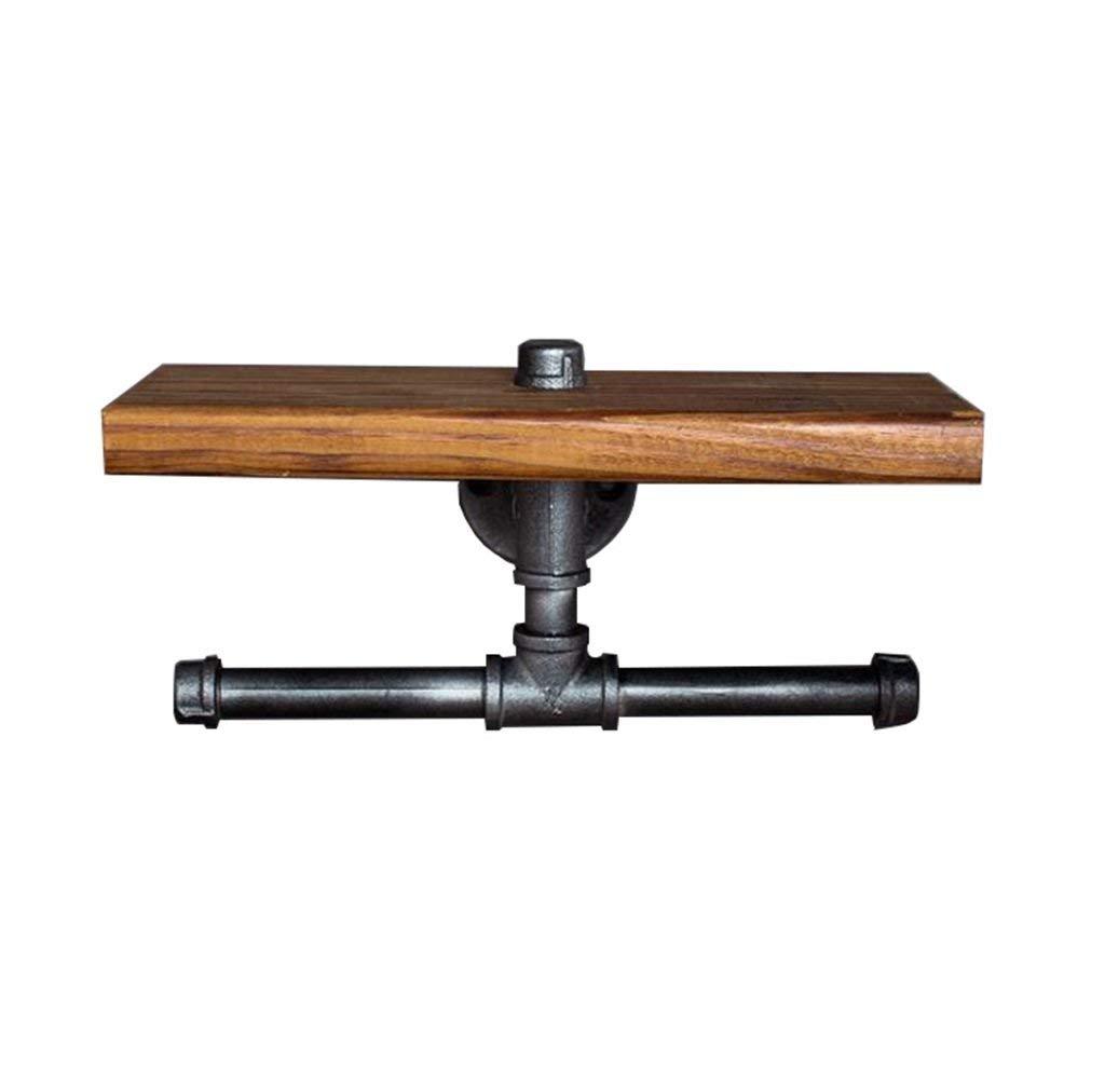 LPZ-SHELF Floating Shelves - Vintage Solid Wood Wall Shelf | Metal towel holder Wall-mounted | Cube Wall Hanging Clapboard Bookshelf Storage Rack | Floating Unit | Industrial Decorations