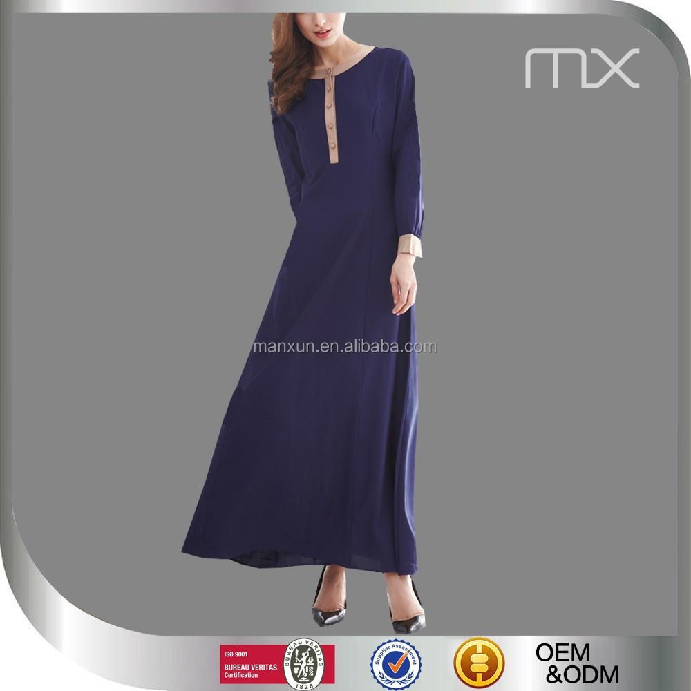 Nieuwe aankomst blauwe kleur jilbab populaire moderne for Islamitische sportkleding vrouwen