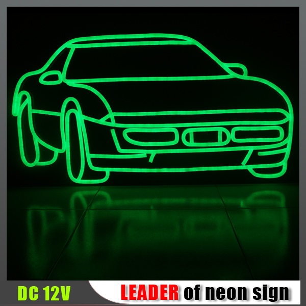 New product! Custom flexible waterproof 7 Color led car neon light, color changing led interior car light