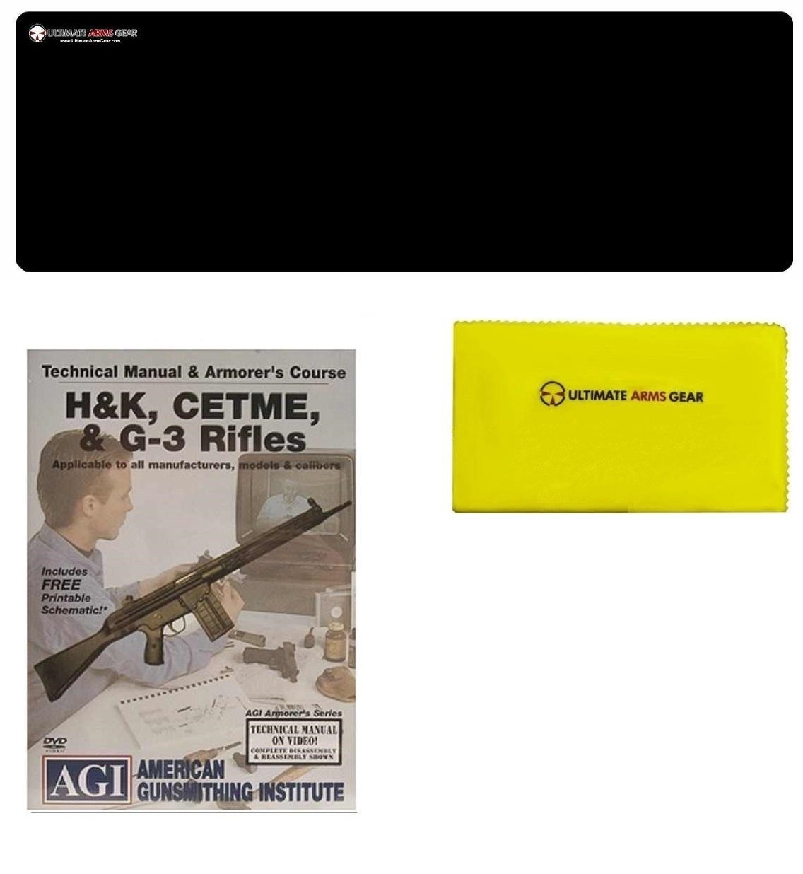 AGI DVD Manual & Armorer's Course HK H&K 91 93 94 MP5 MP-5, CETME & G-3 G3 Rifles + Ultimate Arms Gear Gunsmith & Armorer's Cleaning Bench Gun Mat + Cleaning Cloth