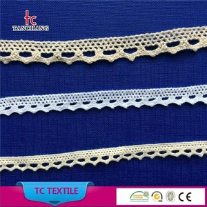 China factory supply fancy design10--12mm coton crochet lace trim for clothing MXHB41-43