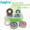 Amazing fast 8pc ABEC9 Skateboard wheel Bearing red s 608rs Mini Ball Bearing Red Seal for