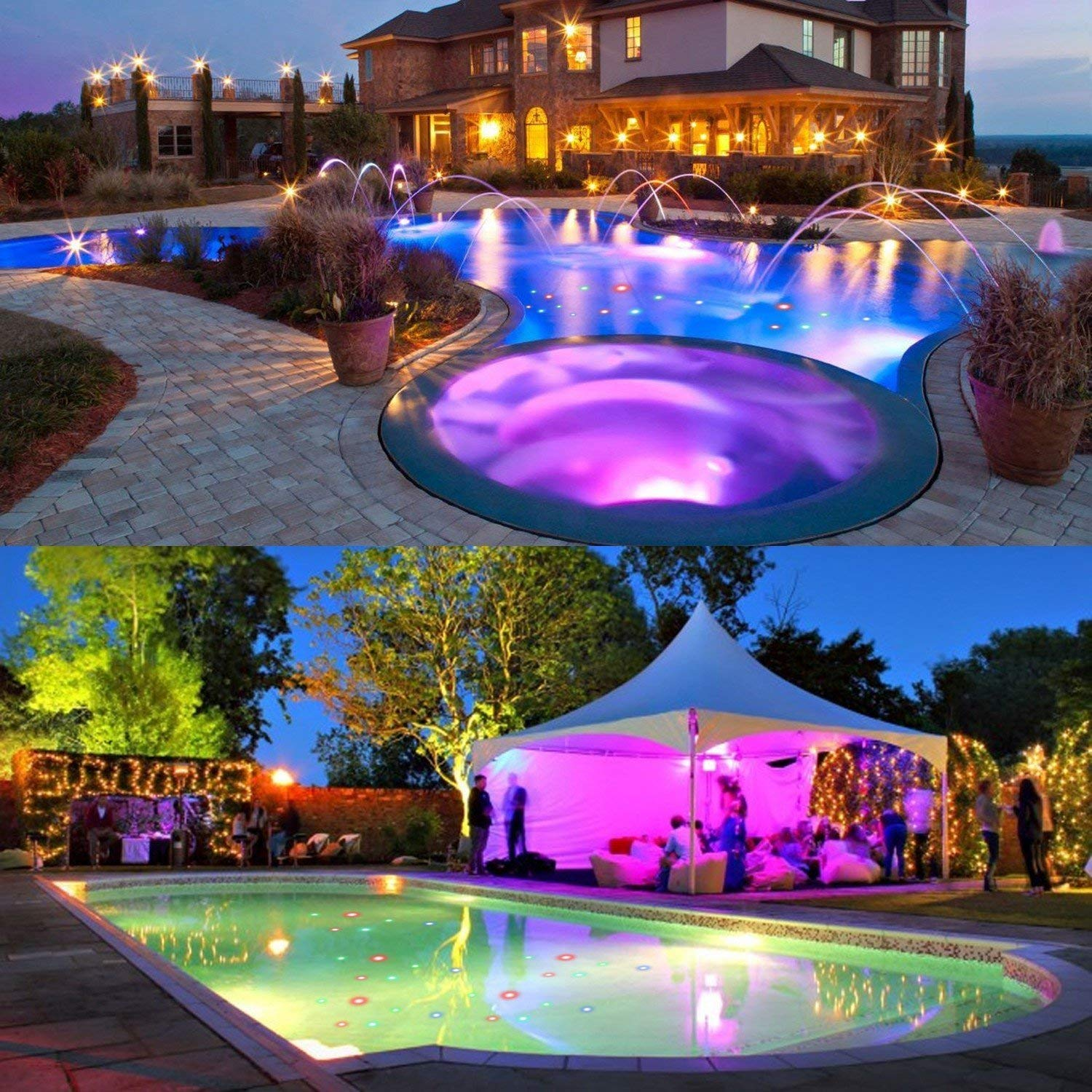 Get Quotations Swimming Pool Lights Floating Underwater Colorful Led Pond For Baby Bath Fountain Disco