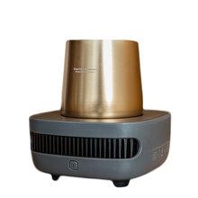 12V портативный автомобильный охладитель для чашек, мини-холодильник с быстрым охлаждением, автомобильный двухслойный Холодильный холодиль...(Китай)