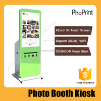 Self Service Photo Booth Vending Machine For Shopping Malls
