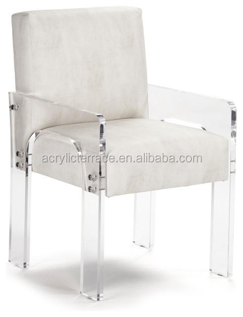 Acrylic Dining Chair With Cushion