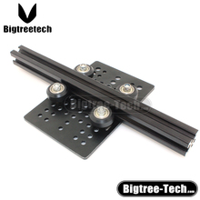 aluminum extrusion profile Openbuilds for v-slot DIY Slider Gantry Plate+Openbuilds Isolation Column+wheel with Bearings Pulley