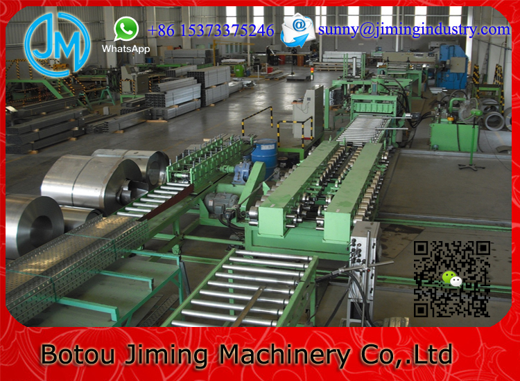 Slotted metal cable tray wire mesh cable tray roll forming machine
