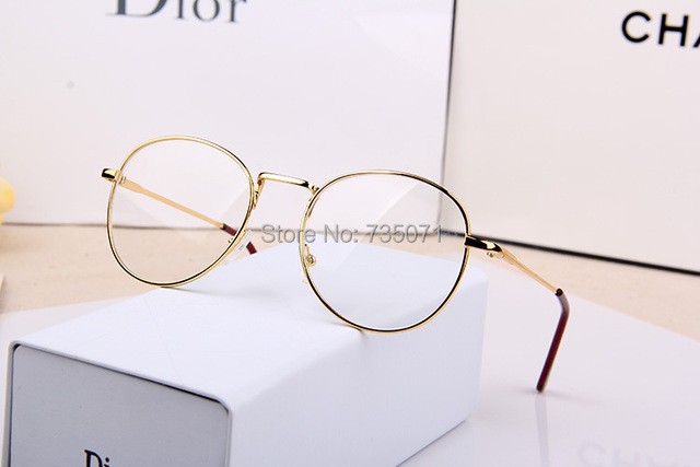 b87b1cfce9 2015 UNISEX FASHION VINTAGE METAL THIN ROUND EYE GLASSES FRAME WOMEN NERD  RETRO GAFAS CLEAR LENS PLAIN GLASS SPECTACLES OCULOS-IN EYEWEAR FRAMES FROM  MEN S ...