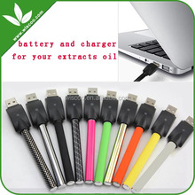510 thread 280mah stylus CBD oil vape pens battery with usb charger for bud touch vaporizer pen