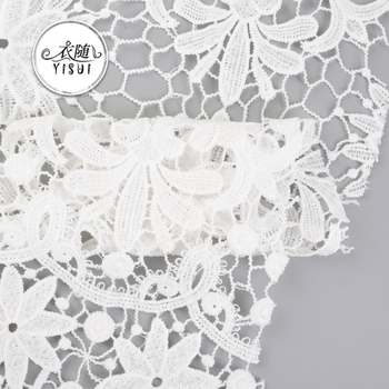 Cheap latest nigeria guipure chemical lace designs fabric for wedding dresses