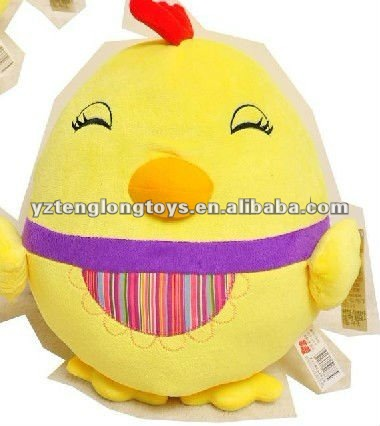 hot sale! cute and cheap plush easter egg with smile face
