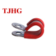 Galvanized steel heavy duty retaining clips P types pipe rubber clamps