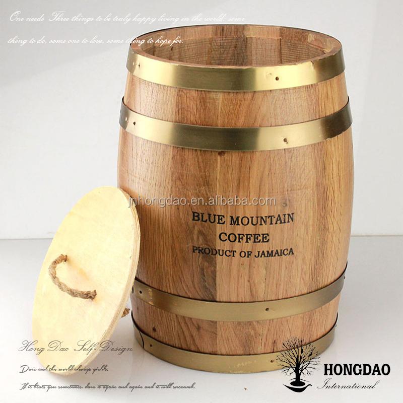 מגה וברק Hongdao חבית יין מעץ אלון מותאם אישית עם בסיס למכירה-תופים , דליי LV-27