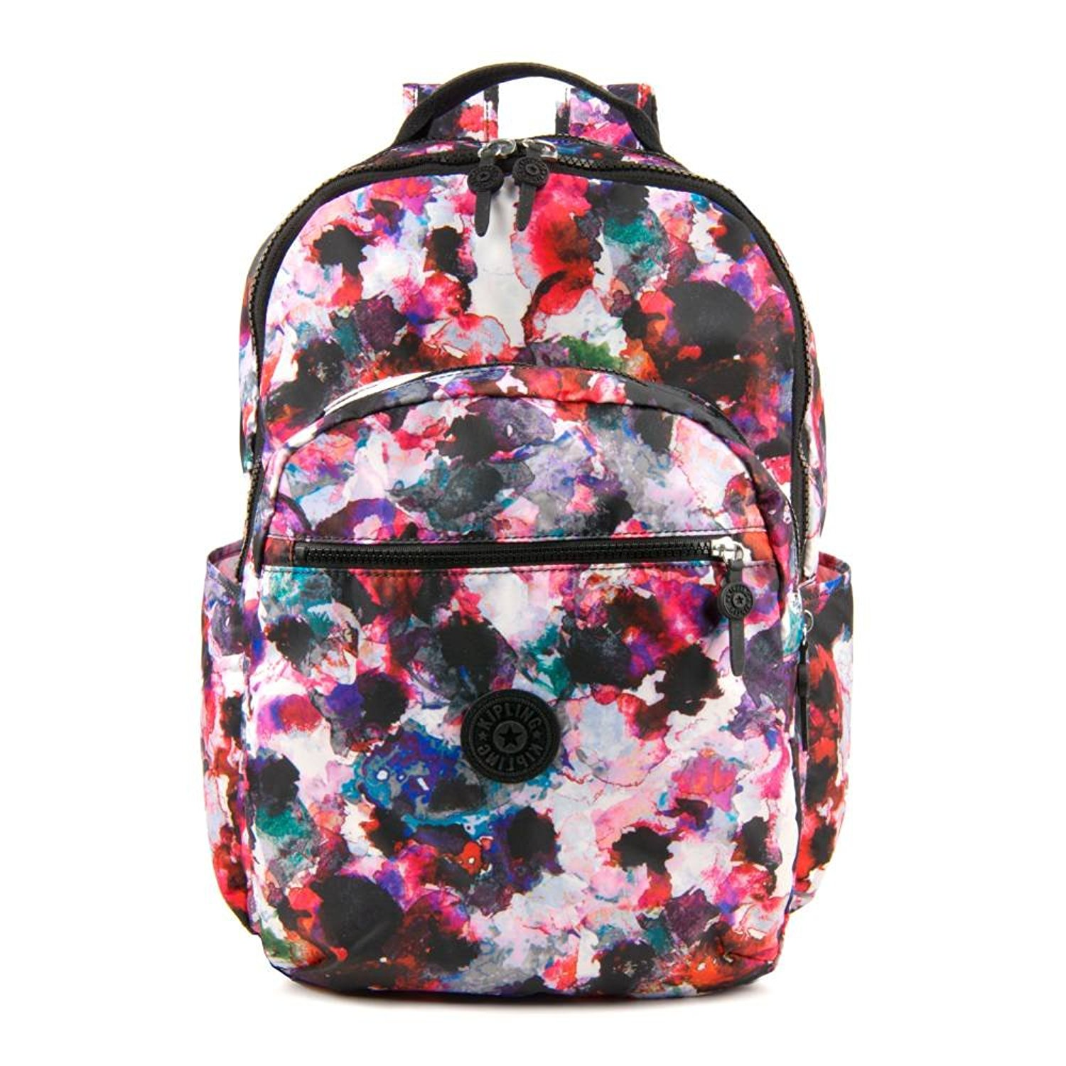 fe4ad31684 Get Quotations · Kipling Seoul Wildflower School Travel Backpack w/ Laptop  Sleeve, Side Pockets