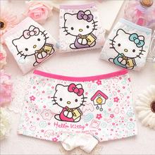 2015 Children's cartoon hello kitty cotton baby underwear baby girls underwear boxer briefs kids panties wholesale GU028