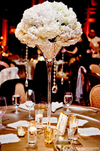 Martini glass clear vase with customizable height for wedding wholesale