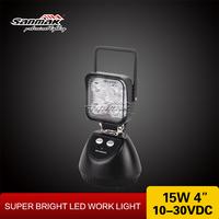 Sanmak Hotsale Handle Work Light 15w Portable Light Car Parts Accessories Rechargable Cordless LED Work Light with Magnetic Base