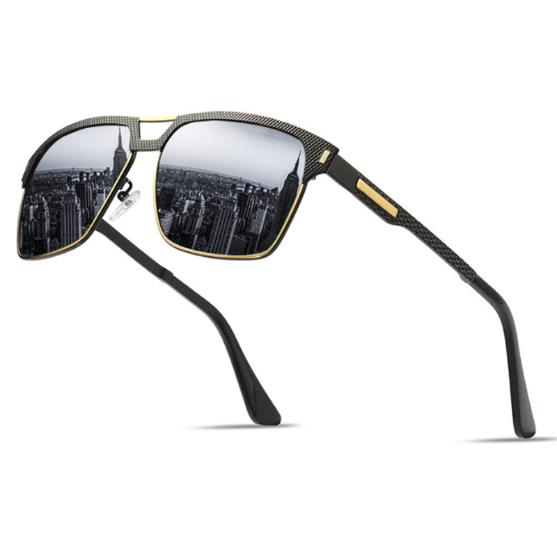 Alibaba.com / S8033 private label classic luxury man polarized fishing driving glasses spring leg sunglasses