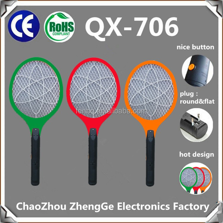QX706-4 China very cheap hot sales rechargeable electric mosquito swatter circuit Mosquito Killer Bat