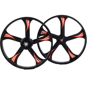 26*4.0 Fat tire rims 5 spoke magnesium alloy bicycle wheel for electric bike