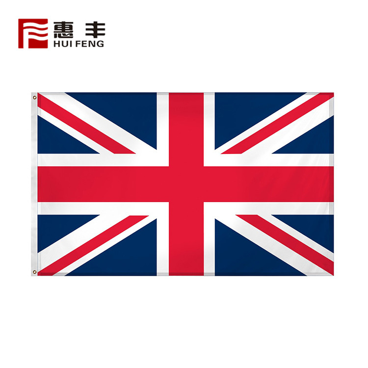Custom polyester Outdoor advertising 3x5 United Kingdom flag