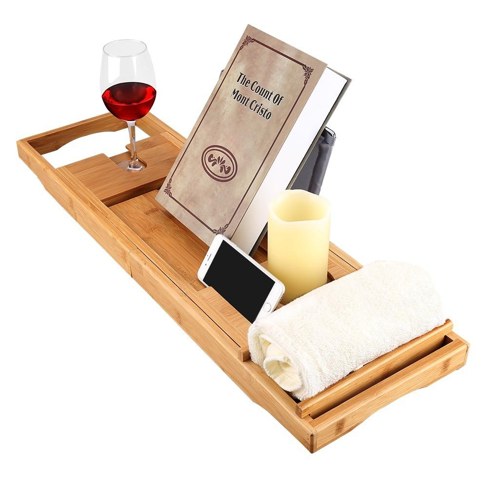 organic bamboo bathtub caddy tray for wholesale and high quality 5