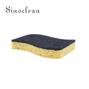 Compressed pop-up sponges kitchen cleaning cellulose sponge 11.3x8.3x2cm 2pk