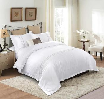 100% cotton cheap plain white bedding set hotel,flat bed cover sheet / cotton bed sheet with pillow cover