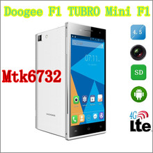 Cheap DOOGEE Smartphone 4.5 Inch Android 4.4 MTK6732 Quad core 1.5GHz 1+8GB 2000MAh 3G 4G 8.0MP Doogee F1 TUBRO Mini F1