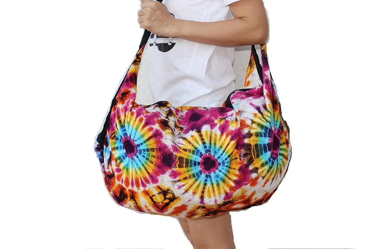 Get Quotations Handmade Women S Shoulder Sling Large Multi Color Tie Dye Bag Thai Hippie Hobo