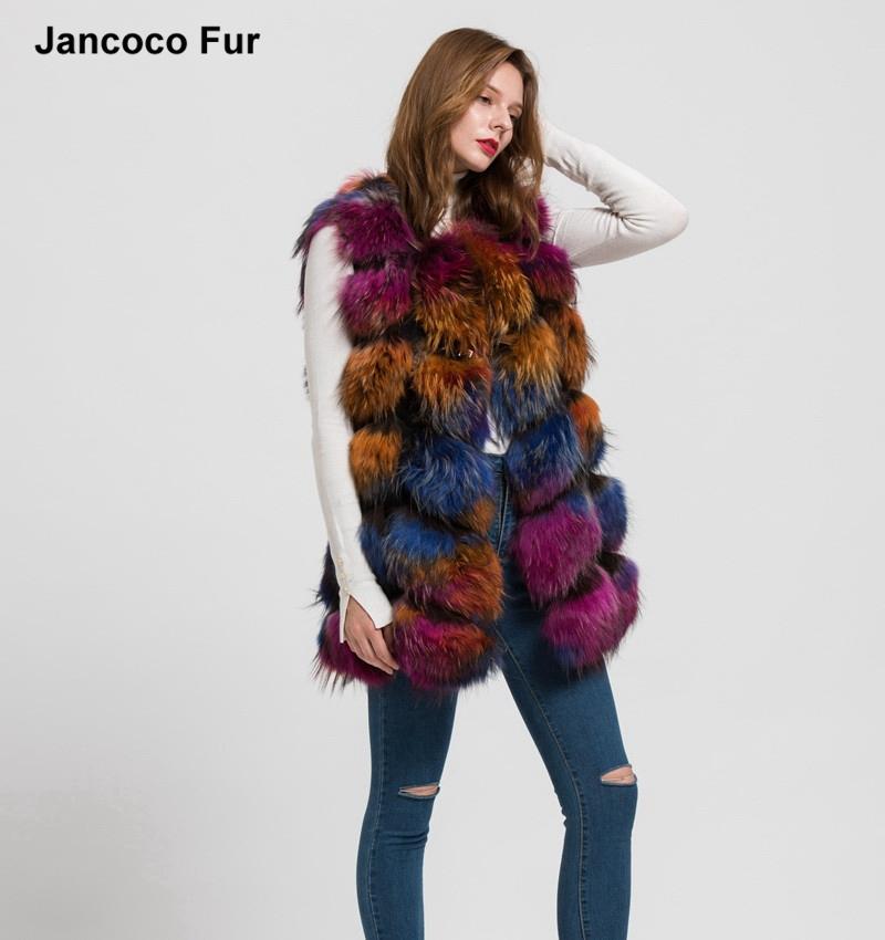Factory Direct Lady's Genuine Raccoon Fur Vest Natural Real Fur Waistcoat Gilet