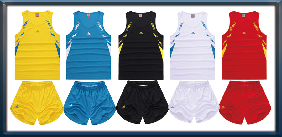 wholesale custom track and field basketball jersey tracksuit running shirt