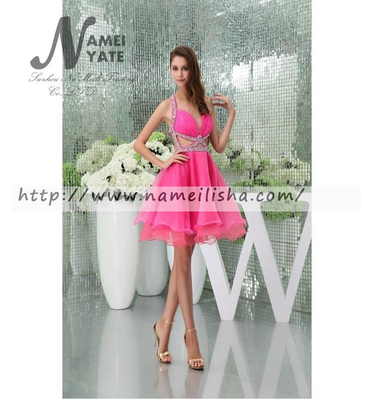 Venta al por mayor vestidos cortos color nude-Compre online los ...
