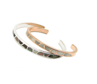Abalone Shell Bangle Name Bracelet 2019 Custom Mother Of Pearl Jewelry Stainless Steel Abalone Shell Inlay Enamel Bracelet Bangle