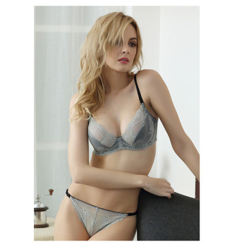 2017 Wholesale Ladies Sexy Net Bra Sets Hot Sale Underwear Photos ... 23dc43538