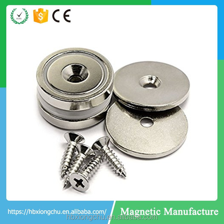 neodymium magnet plate with screw hole