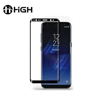Factory price anti-shock universal 3d curve tempered glass screen protector for samsung galaxy s8