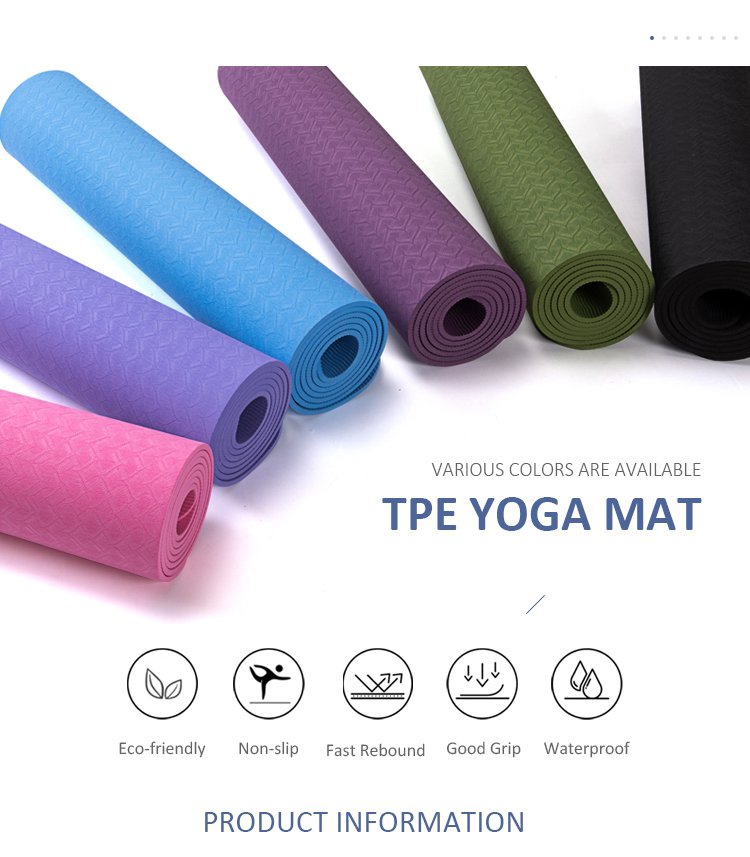 Custom Printed Eco Friendly New TPE Yoga Mats