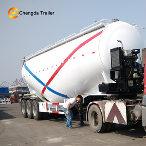 Chassis King Dry Bulk Trailers and Vacuum Trailers 45 cubic meters Cement Bulk Tank Trailer For Sale