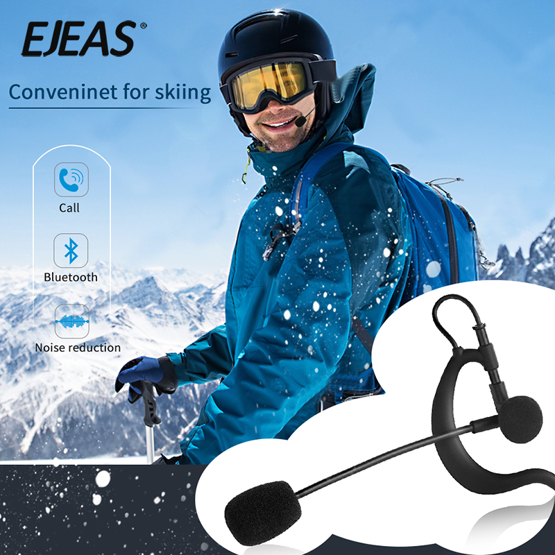 Ejeas Referee Intercom Full Duplex Real-Time Hands Free Communication System 4-Ways Bluetooth Intercom FBIM