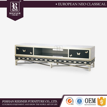 Italian classical furniture Solid wooden furniture tv cabinet with showcase / new model tv cabinet with showcase