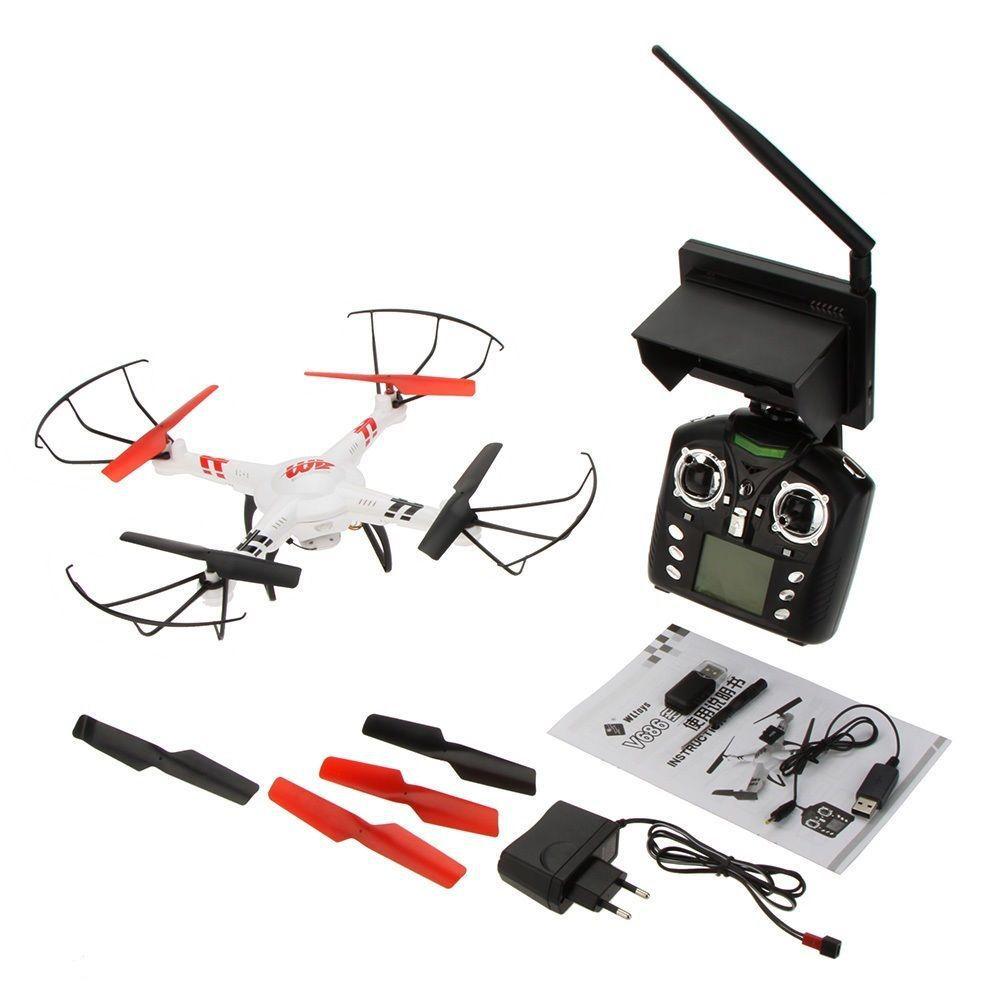 WLtoys V686G 5.8G FPV Monitor RC Quadcopter Headless Mode One Key To Return