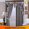 New premium Hotel furniture Hotel Curtains 100% Polyester Juaquard blackout fabric