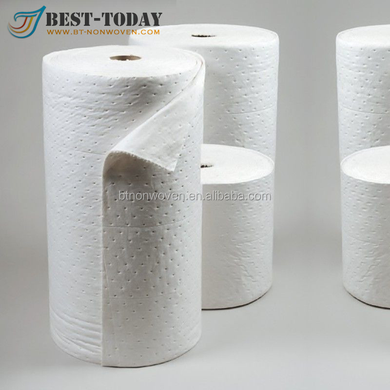 100% Polypropylene White Oil Spill Absorbent Roll