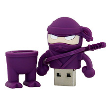 best selling products ninjia model cartoon usb flash pen drive wholesale flash memory