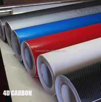 High quality high gloss black 4D carbon fibre film for car wrapping