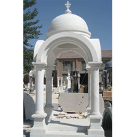 natural marble made hand carved European style outdoor Church white marble gazebo